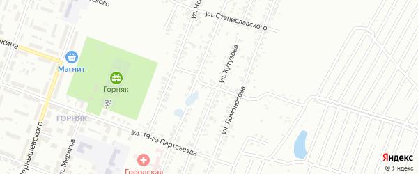Переулок Кутузова на карте Копейска с номерами домов