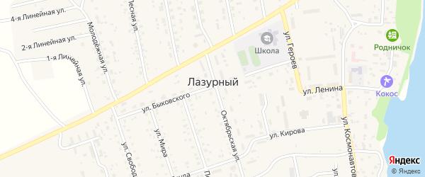 Рябиновая улица на карте Лазурного поселка с номерами домов