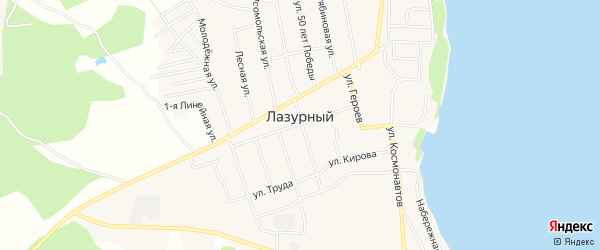 СТ Теплостроевец на карте Лазурного поселка с номерами домов