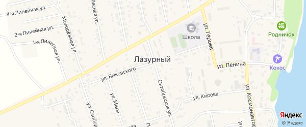 Улица Свободы на карте Лазурного поселка с номерами домов