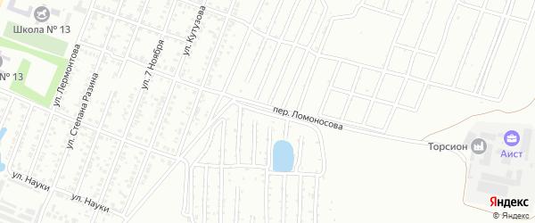 Переулок Ломоносова на карте Копейска с номерами домов