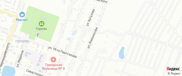 Улица Ломоносова на карте Копейска с номерами домов