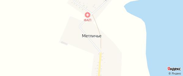 Южная улица на карте поселка Метличья с номерами домов