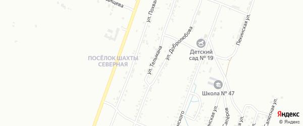 Улица Тельмана на карте Копейска с номерами домов