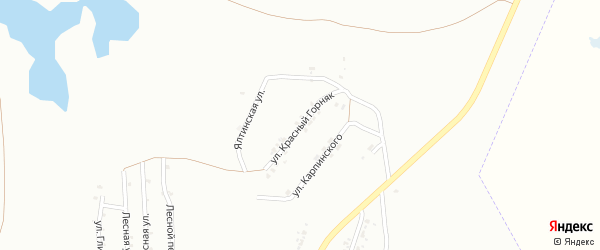 Улица Красный Горняк на карте Копейска с номерами домов