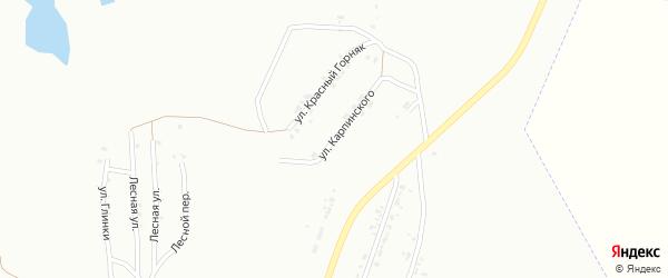 Улица Карпинского на карте Копейска с номерами домов