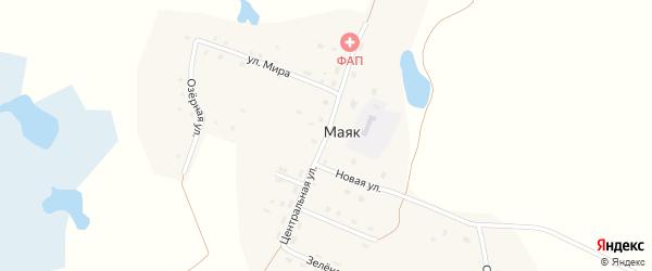 Центральная улица на карте поселка Маяка с номерами домов