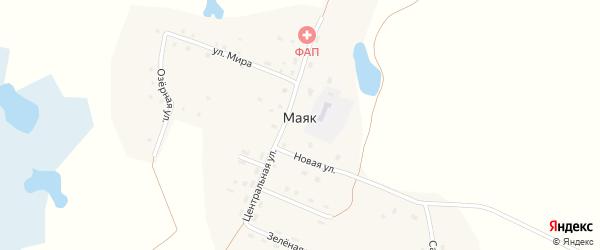 Тихая улица на карте поселка Маяка с номерами домов