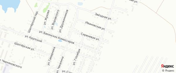 Сиреневая улица на карте Копейска с номерами домов