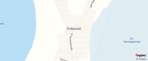 Карта Озерного поселка в Челябинской области с улицами и номерами домов