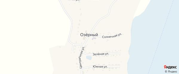 Дачная улица на карте Озерного поселка с номерами домов