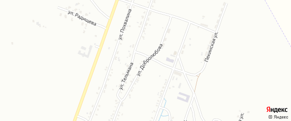 Улица Добролюбова на карте Копейска с номерами домов