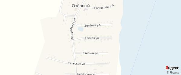 Южная улица на карте Озерного поселка с номерами домов