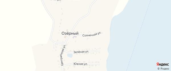 Солнечная улица на карте Озерного поселка с номерами домов