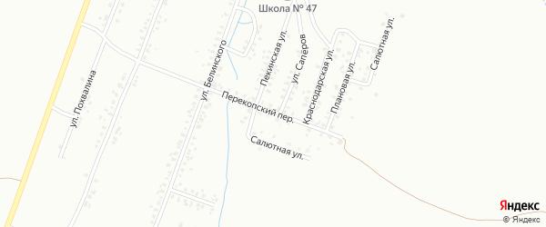 Перекопский переулок на карте Копейска с номерами домов