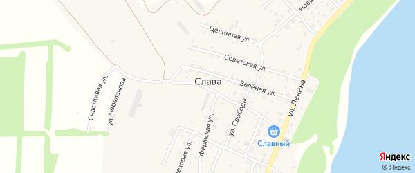 Огородная улица на карте поселка Славы с номерами домов