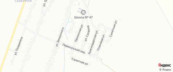 Улица Саперов на карте Копейска с номерами домов