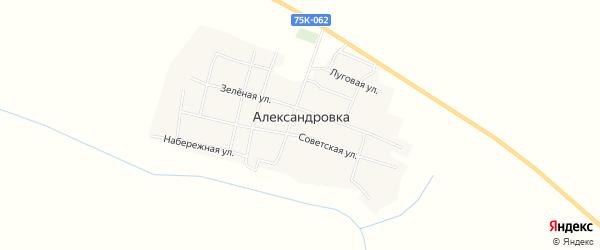 Карта села Александровки в Челябинской области с улицами и номерами домов