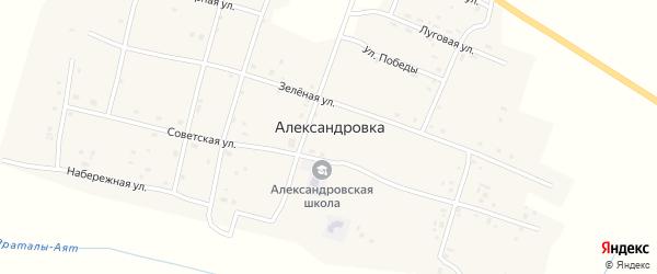 Северная улица на карте села Александровки с номерами домов