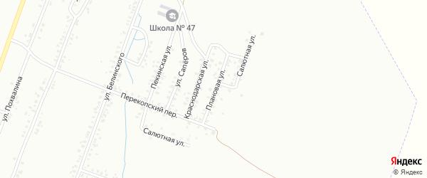 Плановая улица на карте Копейска с номерами домов
