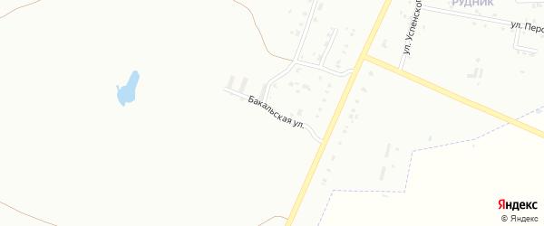 Бакальская улица на карте Копейска с номерами домов