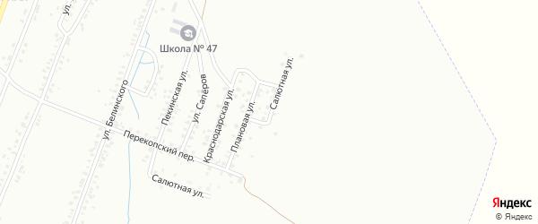 Салютная улица на карте Копейска с номерами домов