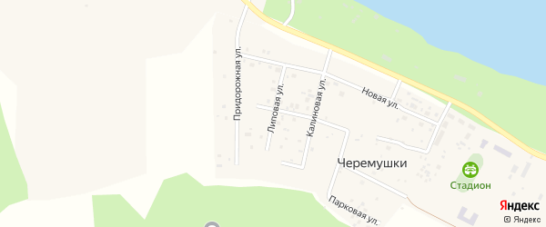 Липовая улица на карте поселка Черемушки с номерами домов