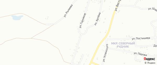 Улица Горняков на карте Копейска с номерами домов