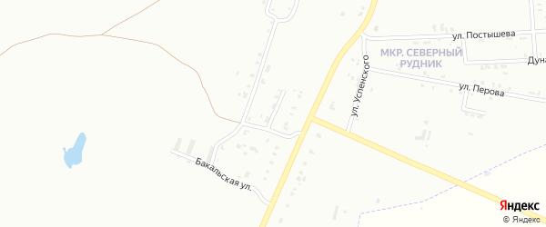 Переулок Бестужева на карте Копейска с номерами домов
