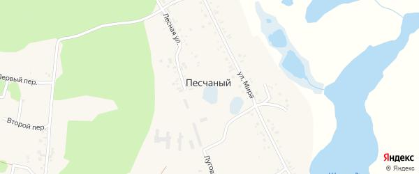 Спортивная улица на карте Песчаного поселка с номерами домов