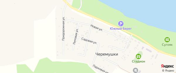 Калиновая улица на карте поселка Черемушки с номерами домов