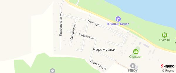 Садовая улица на карте Лазурного поселка с номерами домов