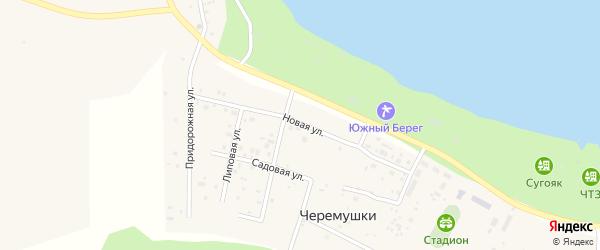 Новая улица на карте поселка Черемушки с номерами домов