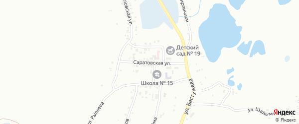 Саратовская улица на карте Копейска с номерами домов