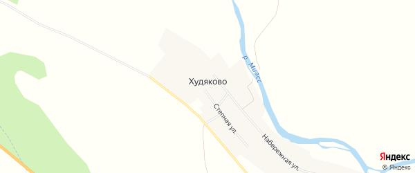Карта деревни Худяково в Челябинской области с улицами и номерами домов