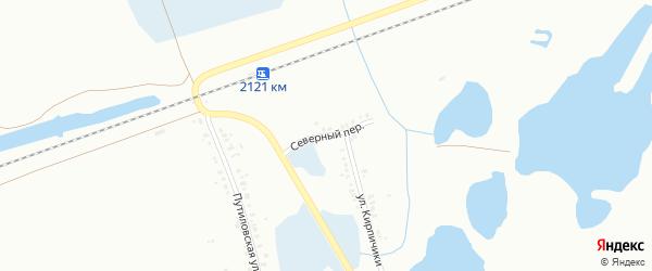 Переулок Северный (бывший РП Горняк) на карте Копейска с номерами домов