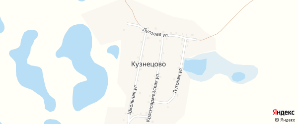 Школьная улица на карте деревни Кузнецово с номерами домов