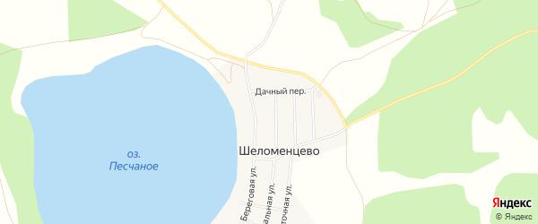 Карта села Шеломенцево в Челябинской области с улицами и номерами домов