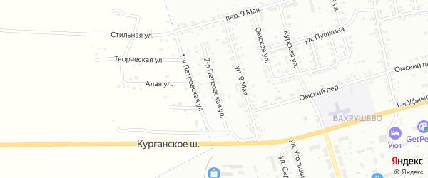 Петровская 2-я улица на карте Копейска с номерами домов
