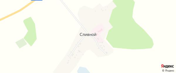 Центральная улица на карте Сливного поселка с номерами домов
