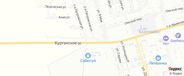 Петровская 1-я улица на карте Копейска с номерами домов