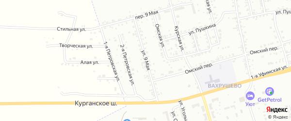 Улица 9 Января на карте Копейска с номерами домов