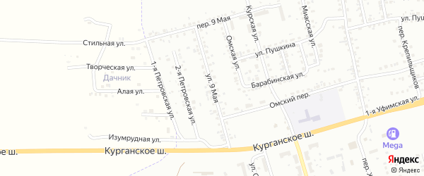 9 Мая улица на карте Копейска с номерами домов