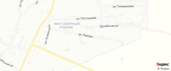 Улица Перова на карте Копейска с номерами домов