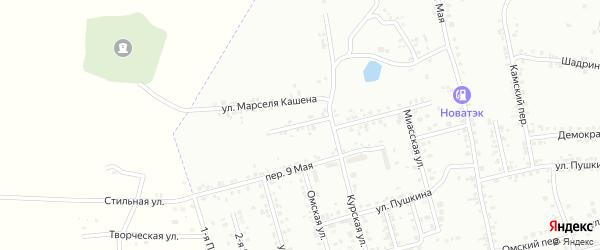Волочаевский переулок на карте Копейска с номерами домов