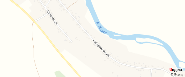 Набережная улица на карте деревни Худяково с номерами домов
