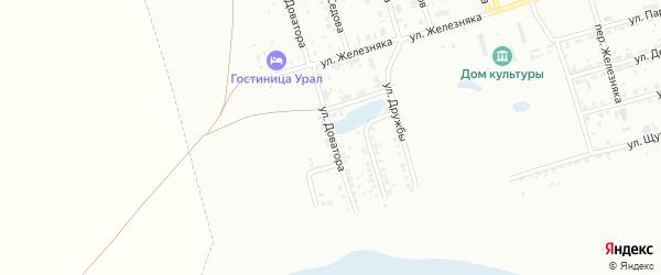 Улица Доватора на карте Копейска с номерами домов