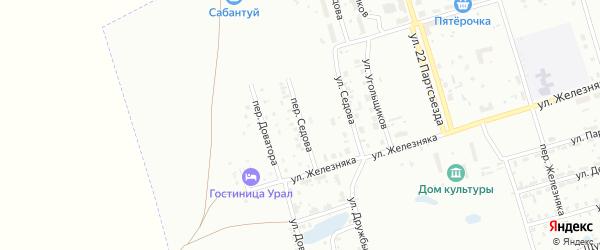 Переулок Седова на карте Копейска с номерами домов