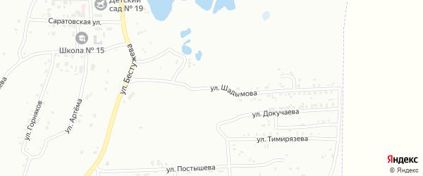Улица Фадеева на карте Копейска с номерами домов