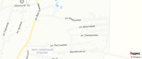 Улица Докучаева на карте Копейска с номерами домов